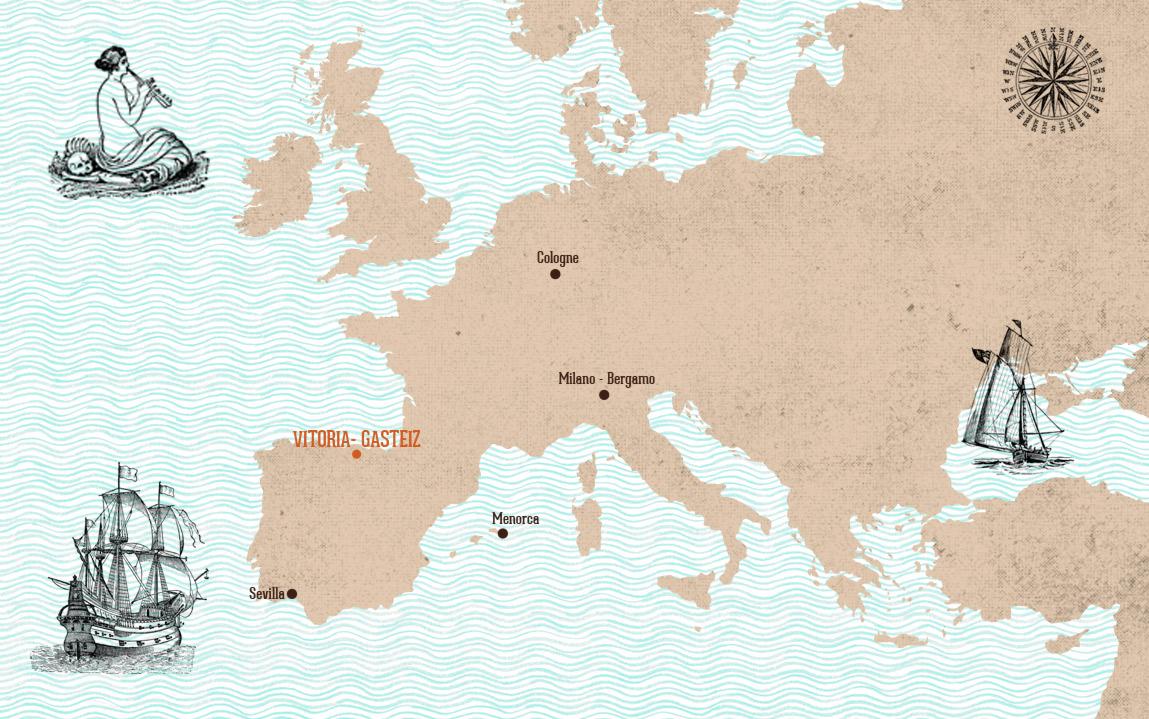 Mapa vuelos a Vitoria-Gazteiz Azkena Rock Festival Spain