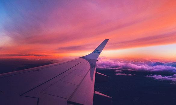 atardecer avión