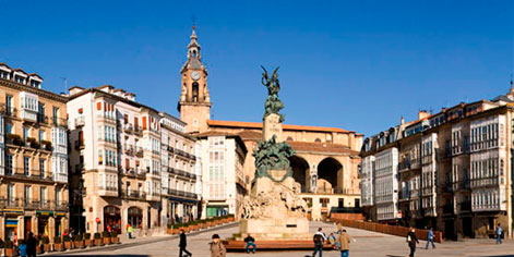 Plaza de la Virgen Blanca en Vitoria-Gasteiz