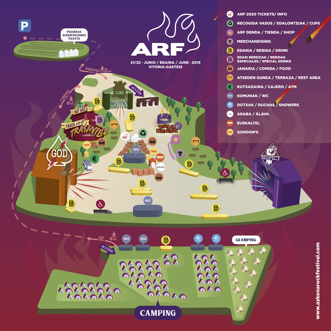 Mapa del Azkena Rock