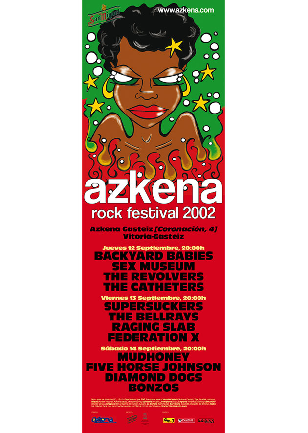 azkena rock festival cartel 2002 music spain