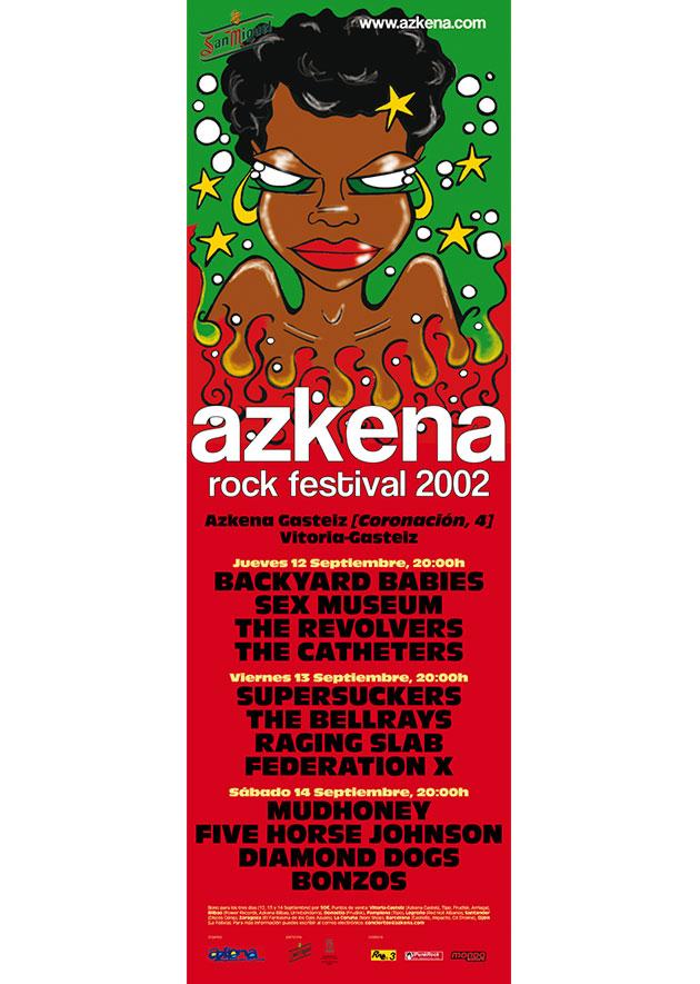 azkena rock festival cartel 2002 music spain