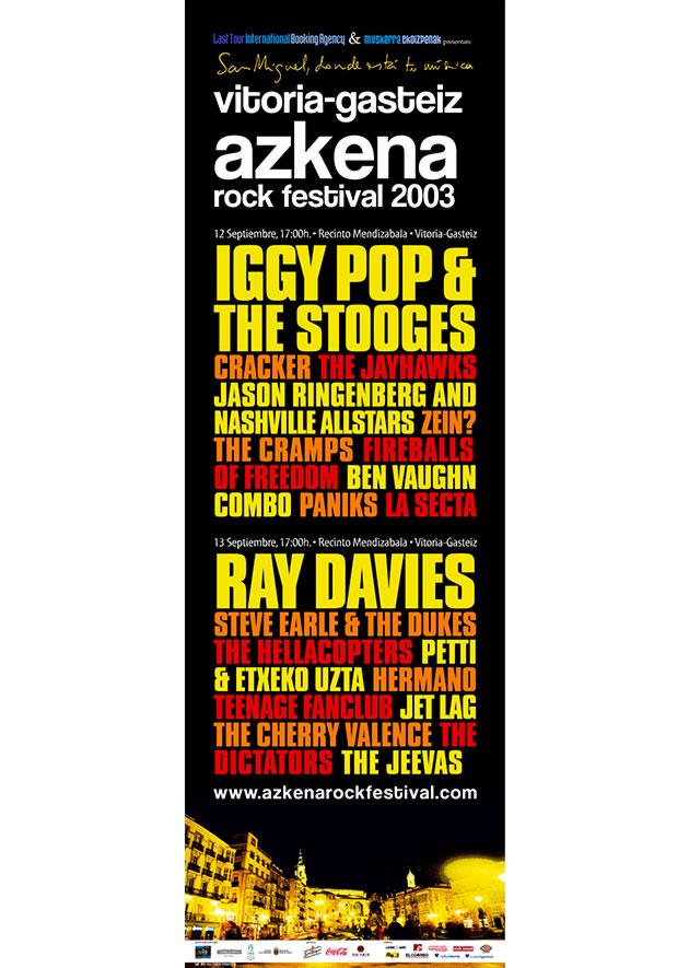 azkena rock festival cartel 2003 music spain