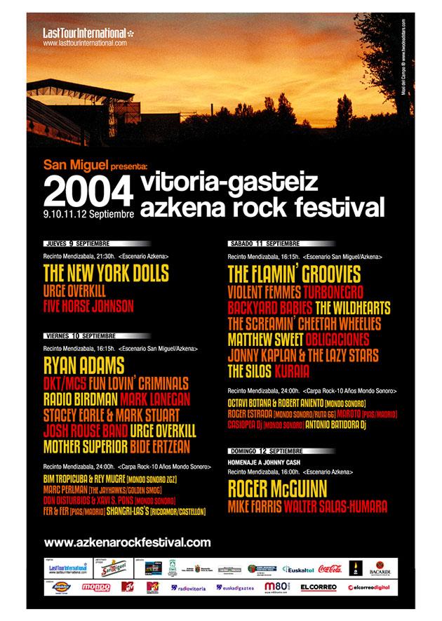 azkena rock festival cartel 2004 music spain