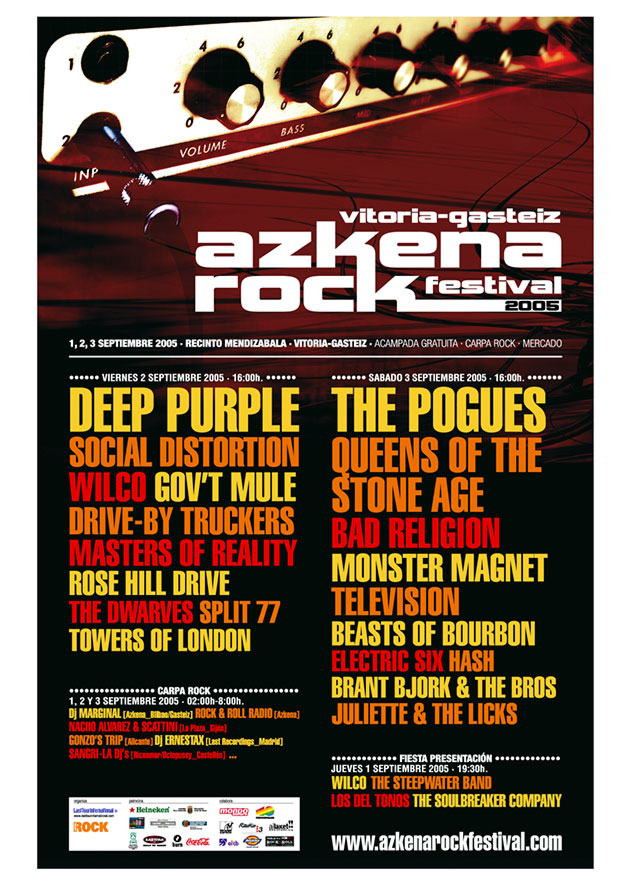 azkena rock festival cartel 2005 music spain