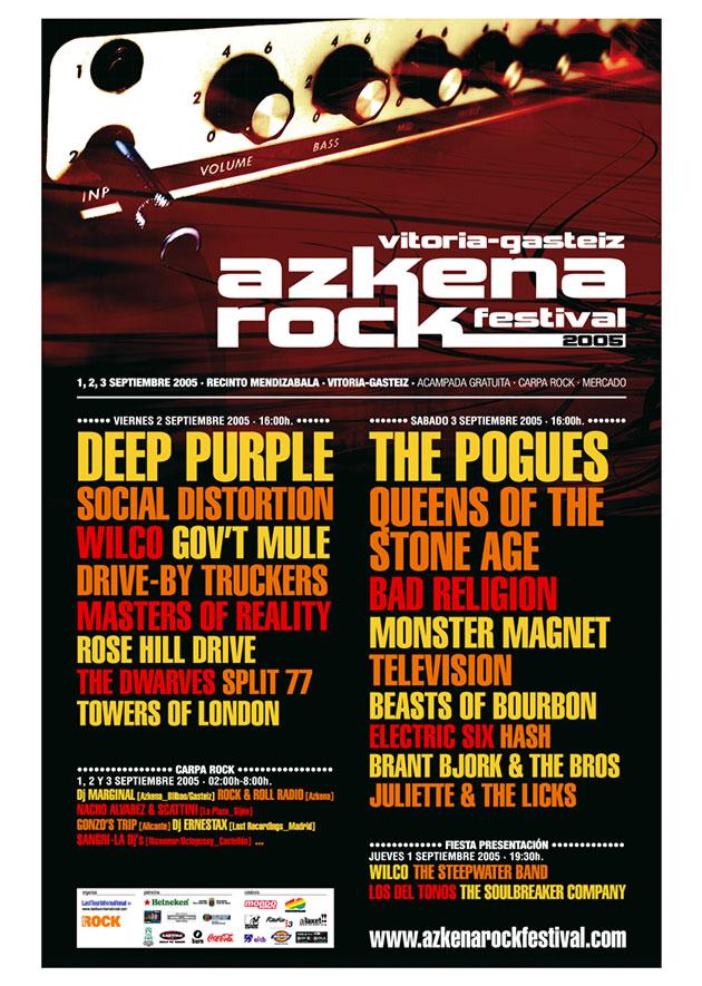 azkena rock festival cartel 2005 music spain