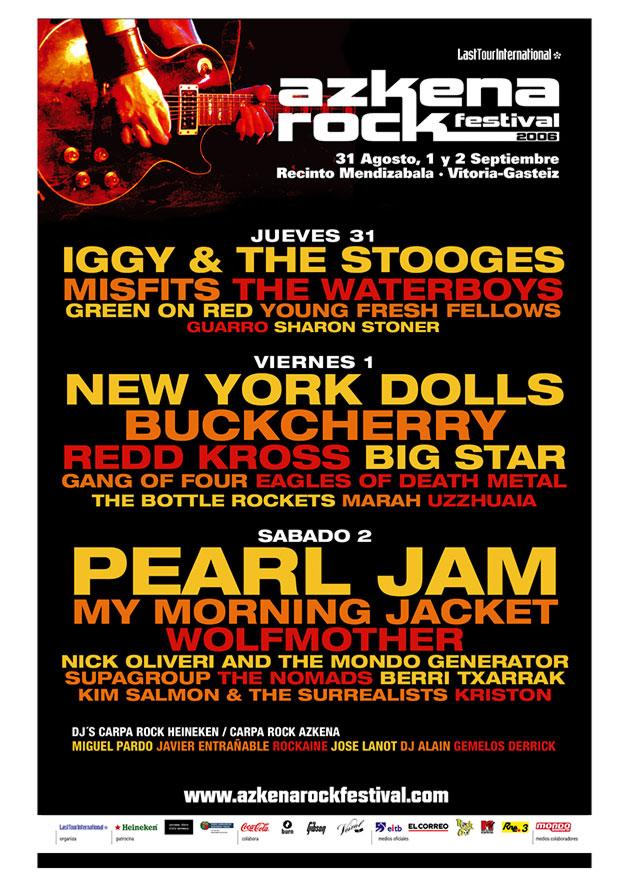 azkena rock festival cartel 2006 music spain
