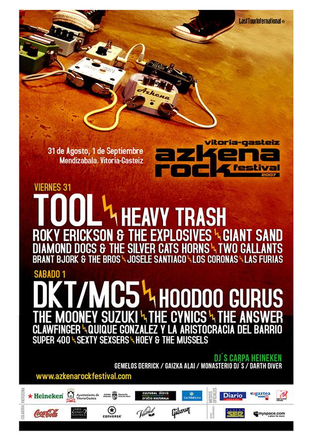 azkena rock festival cartel 2007 music spain