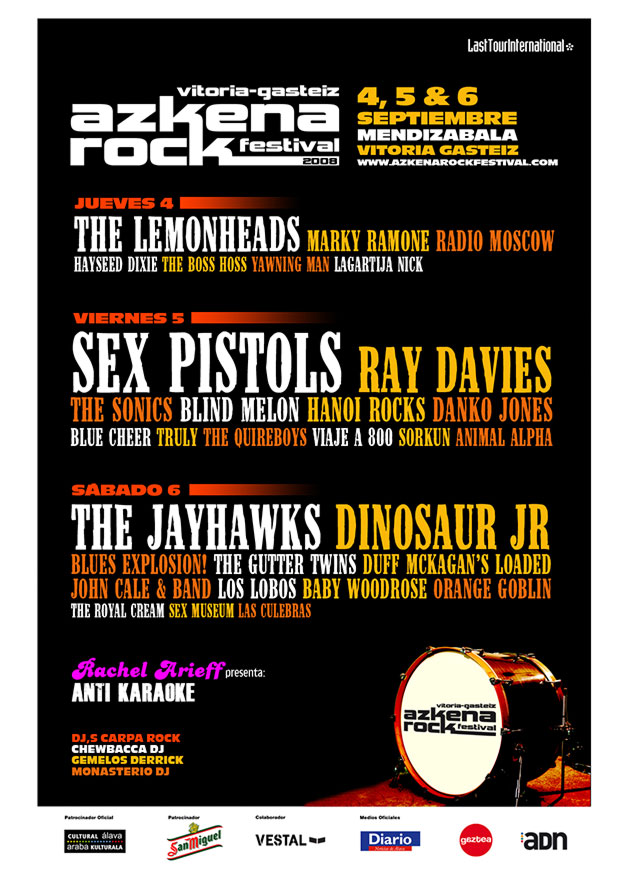 azkena rock festival cartel 2008 music spain