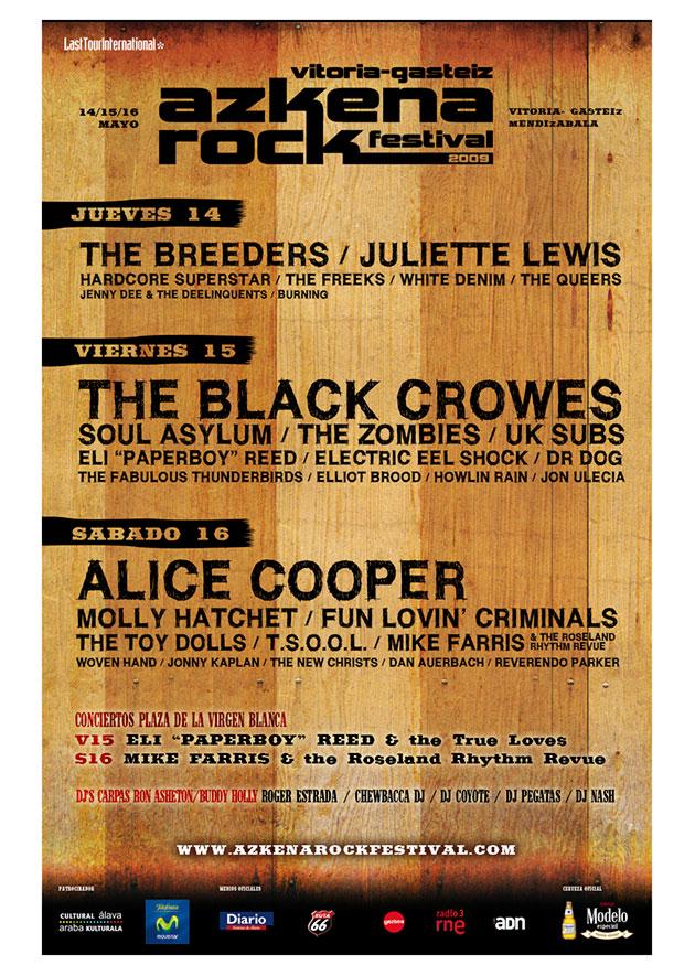 azkena rock festival cartel 2009 music spain