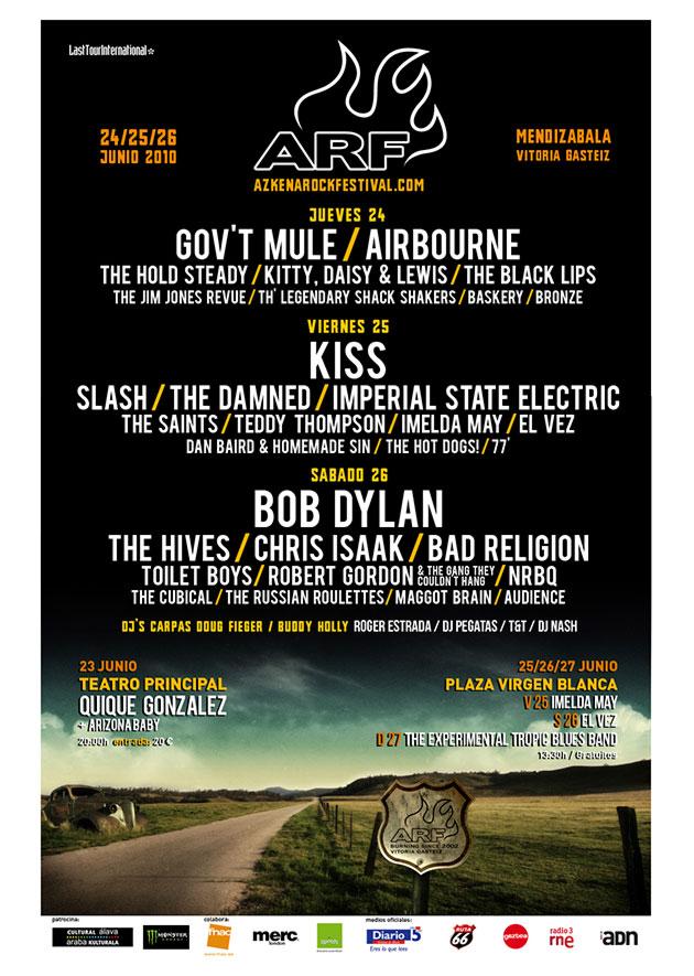 azkena rock festival cartel 2010 music spain