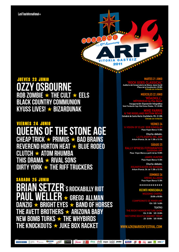azkena rock festival cartel 2011 music spain
