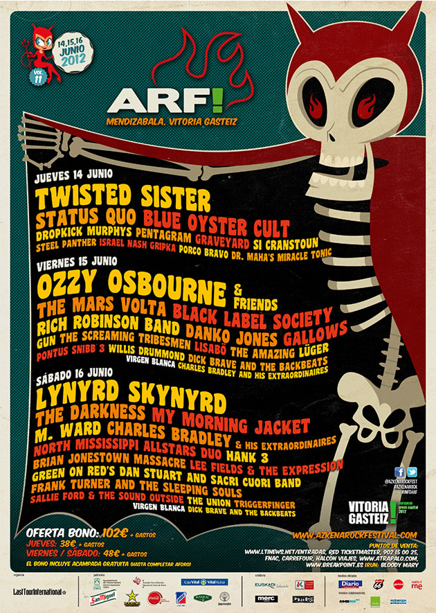 azkena rock festival cartel 2012 music spain