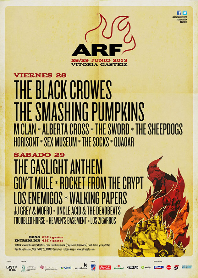 azkena rock festival cartel 2013 music spain