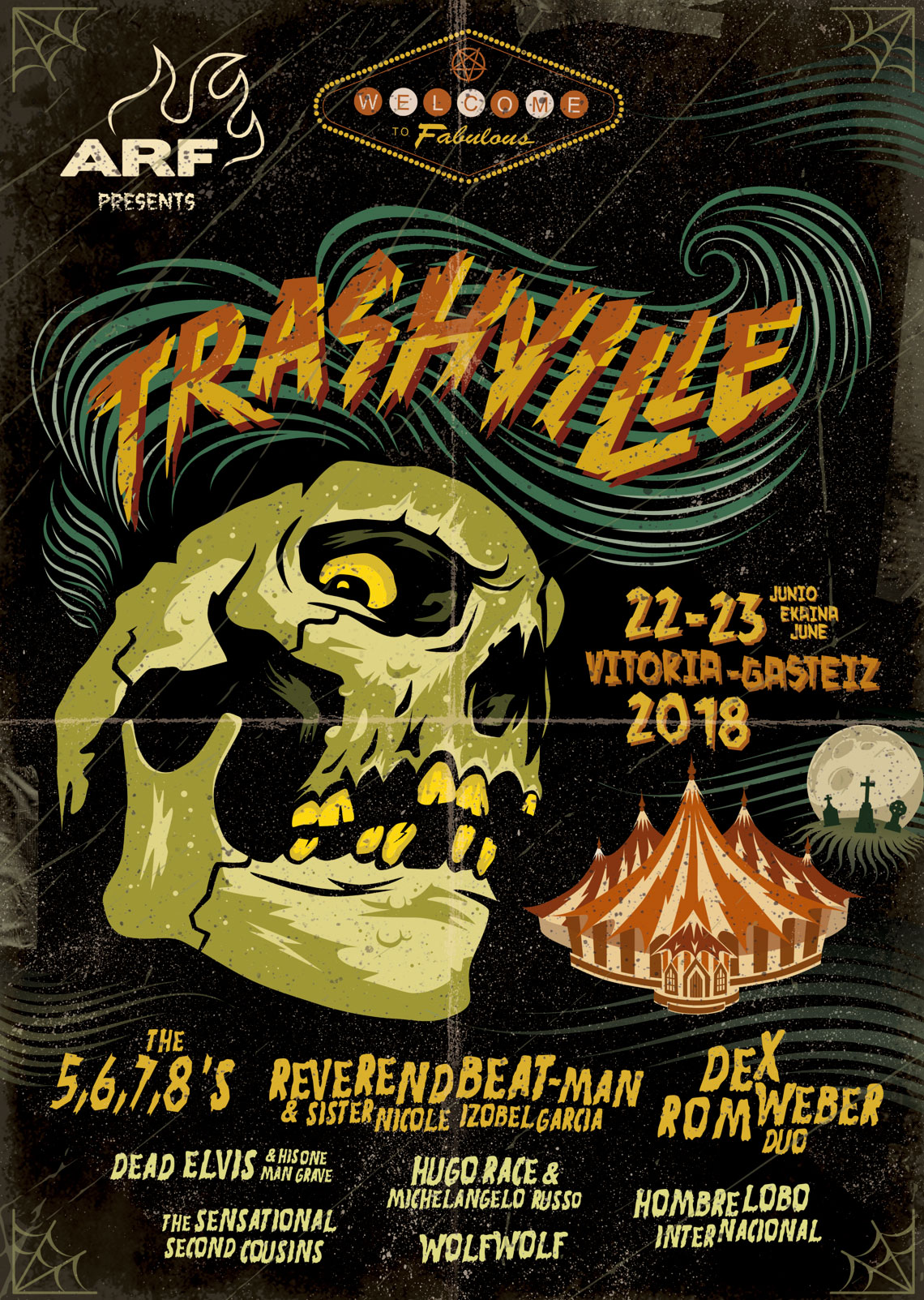 Cartel Trashville Azkena Rock Festival Spain