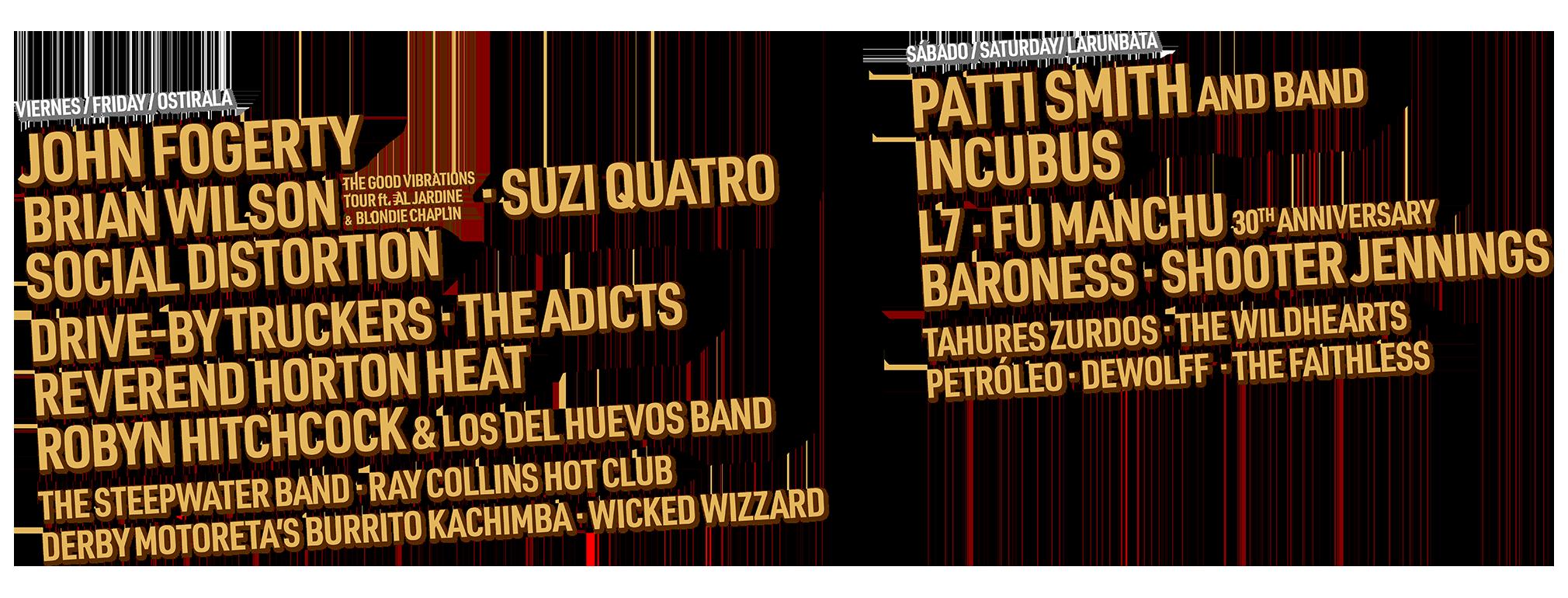 Azkena Rock Festival 2020. 19-20 Junio. Fogerty, Incubus, Suzi Quatro, Brian Wilson, Drive by Truckers, Baroness, Shooter Jennings... - Página 4 ARF20-LINE-UP-POR-DIA-2020x770